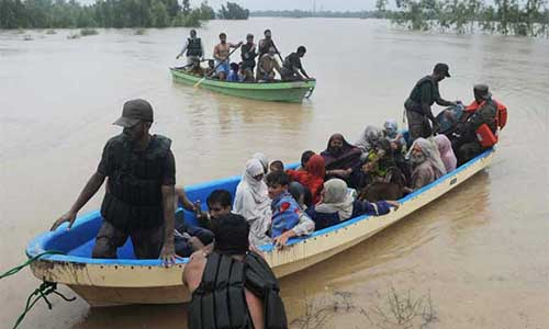 Pakistan Navy continues rescue & relief operations in Sindh
