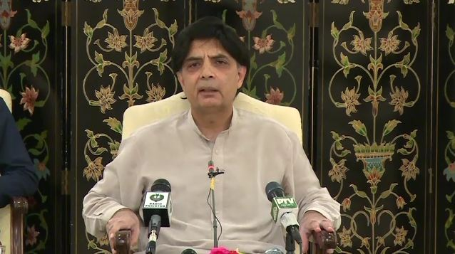 Interior Minister Chaudhry Nisar condemns MQM Chief's objectionable language against state institutions