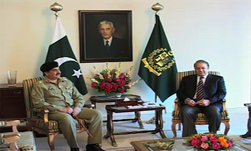Prime Minister Nawaz Sharif discusses Afghan president's recent statement with COAS, DG ISI