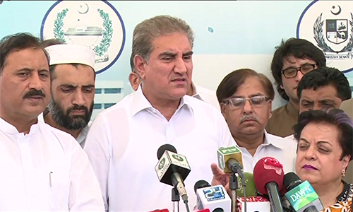 We won't come to National Assembly till decision on de-seating, says PTI vice-chairman Shah Mahmood Qureshi