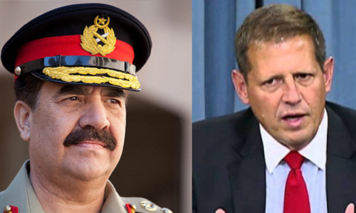 US President Special Assistant for South Asian Affairs Peter Lavoy calls on COAS General Raheel Sharif