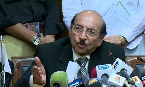No patriot can seek Indian interference, says Sindh CM Syed Qaim Ali Shah