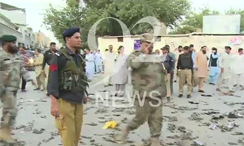 Two cops martyred, as many injured in Quetta Gawalmandi Chowk blast