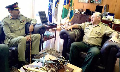 CJCSC General Rashad Mahmood visits Brazilian Defence Ministry
