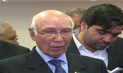 Pakistan is pursuing a policy of good-neighbourly relations, Sartaj Aziz addresses ASEAN Forum