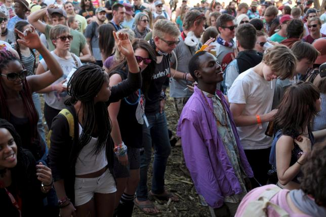 South Africa's dusty Glastonbury changing its complexion