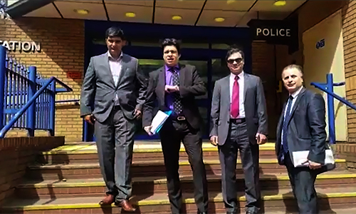 PTI leader Faisal Vawda hands over documentary proofs against Altaf Hussain to London police