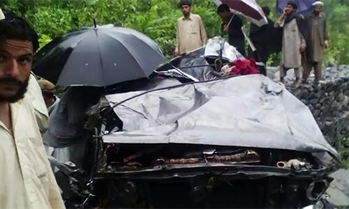 10 wedding guests die as van falls into river in Upper Dir