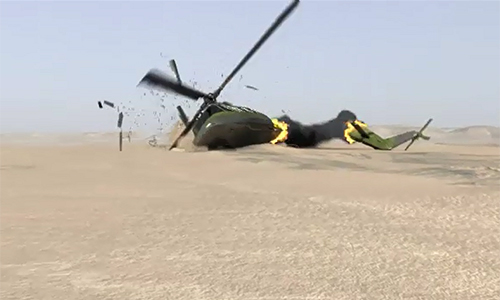 Five majors among 12 martyred in army helicopter crash in Mansehra