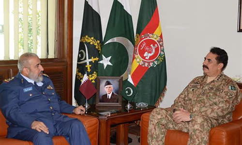 Qatar Armed Forces Chief of Staff calls on COAS General Raheel Sharif