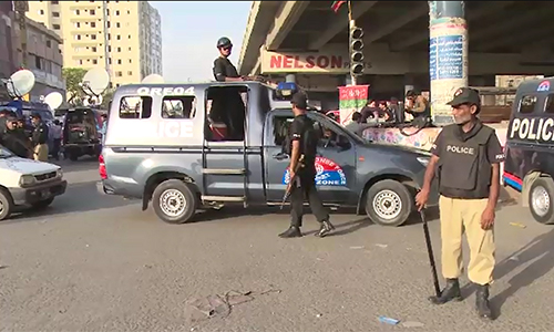 Four cops among six murdered in Karachi; terrorist killed in exchange of firing with Rangers