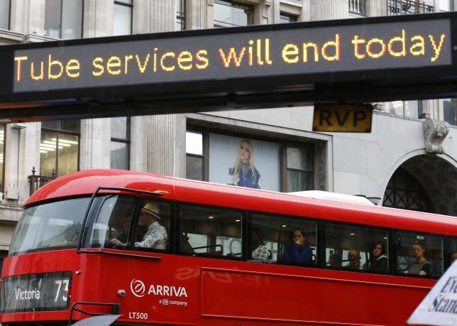 Londoners struggle to work as underground rail staff strike