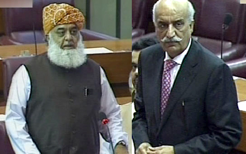 National Assembly leaders hail MQM, JUI-F for withdrawing motion to de-seat PTI