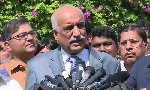 Khurshid Shah holds PM Nawaz Sharif responsible for what is happening
