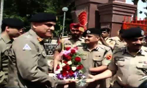 16-member delegation led by DG Punjab Rangers reaches India via Wahgah