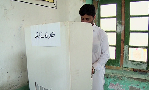 Polling underway in PK-93 by-elections