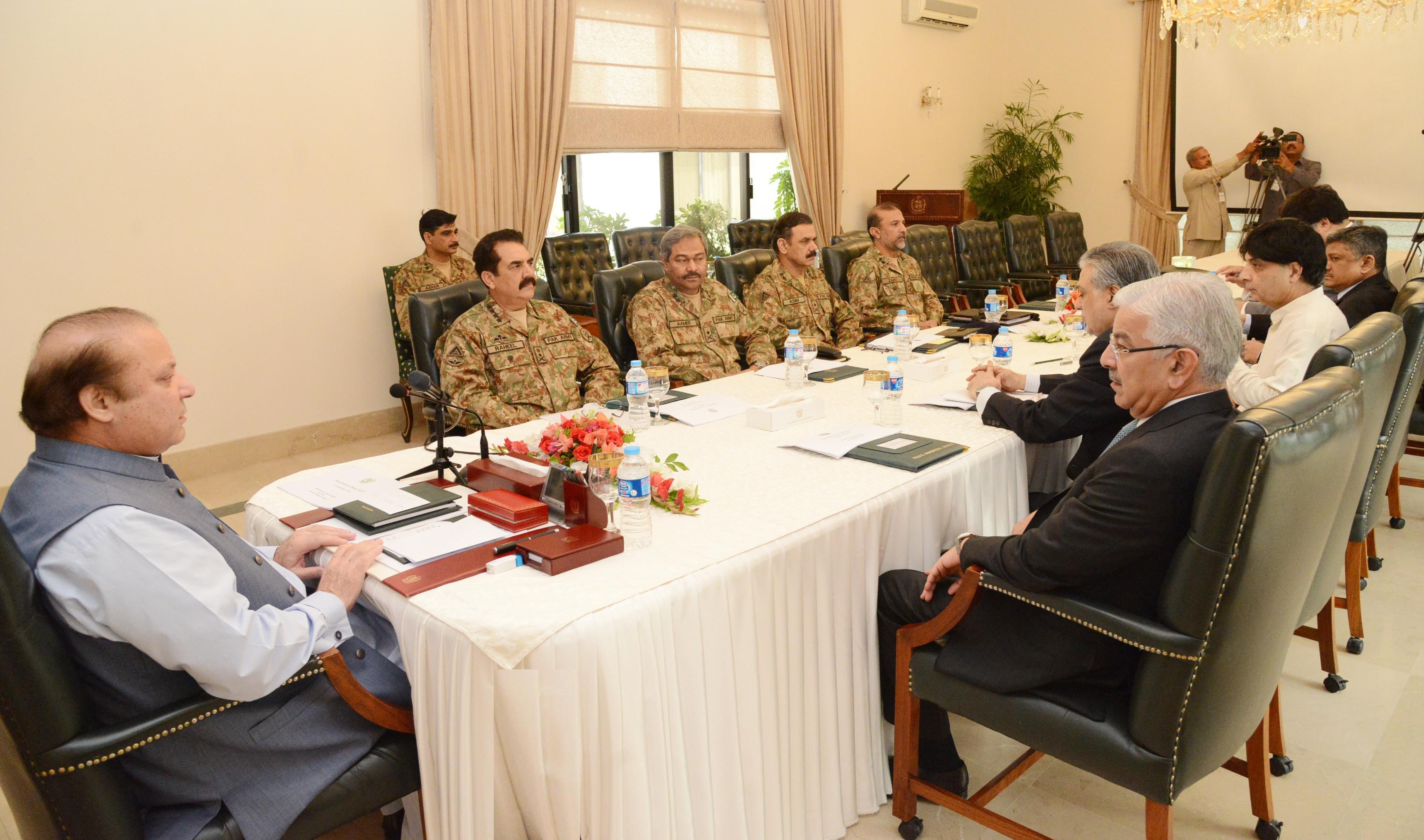 Civil and military leadership agrees to launch decisive action against terrorists