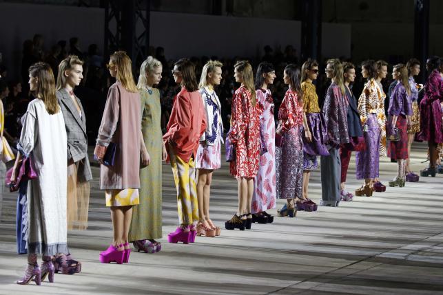 Patterns everywhere at Dries Van Noten Paris fashion show