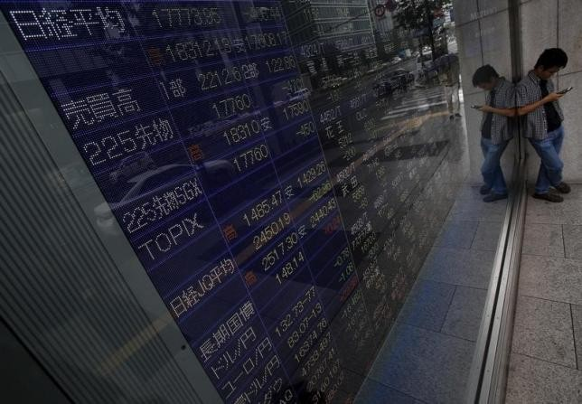Asian stocks pull ahead as dollar edges back, US yields resume climb