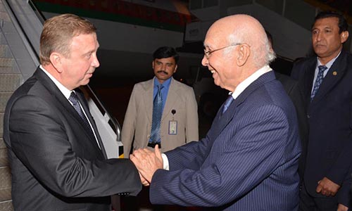 Belarus Prime Minister Andrei Kobyakov arrives in Islamabad on three-day tour