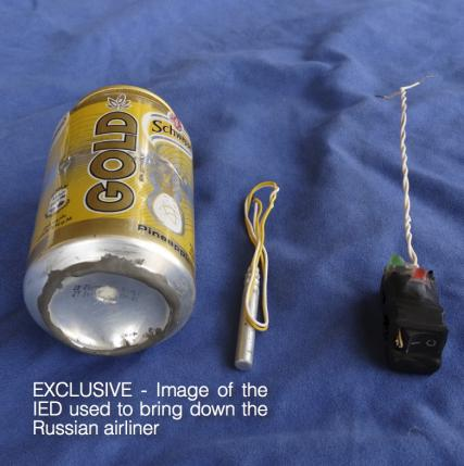 Islamic State says 'Schweppes bomb' used to bring down Russian plane