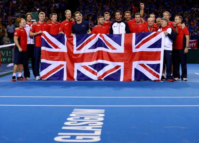 Britain's Davis Cup team delay departure for Belgium
