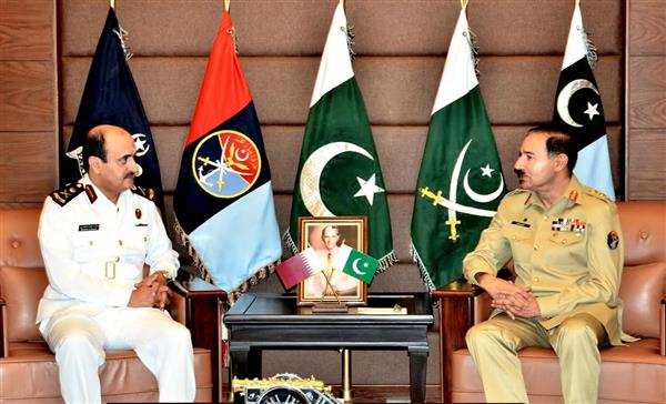Commander Qatar Emiri Naval Forces calls on CJCSC General Rashad Mahmood