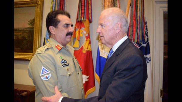 COAS Gen Raheel Sharif calls on US Vice President Joe Biden
