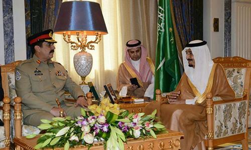 COAS General Raheel Sharif, Saudi King Salman discuss security cooperation & matters of mutual interest