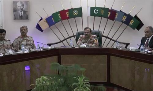 DG Rangers Sindh Maj-Gen Bilal Akbar reviews security arrangements