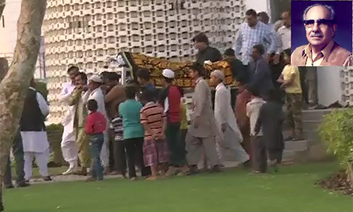 Renowned poet & intellectual Jamiluddin Aali laid to rest in Karachi