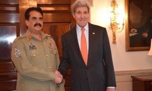 COAS General Raheel Sharif visits US Defense Department, holds a key meeting with John Kerry