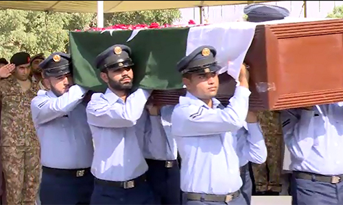 First martyred female pilot Marium Mukhtiar buried with full military honors in Karachi