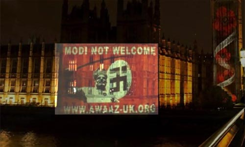 After BJP's humiliating defeat in Bihar, Indians project 'Modi not welcome' on British Parliament