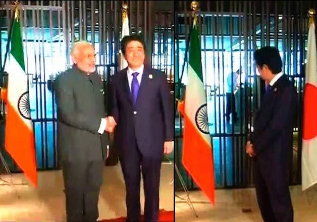 Indian flag displayed upside down as PM Modi, Shinzo Abe met in Malaysia