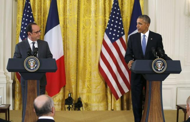 Obama says US, France stand united against Islamic State, terrorism
