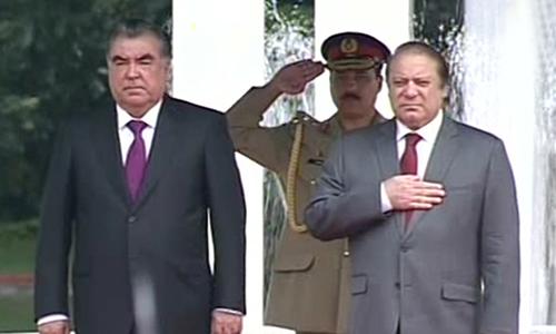 PM Nawaz Sharif, Tajik President discuss ways to promote bilateral ties