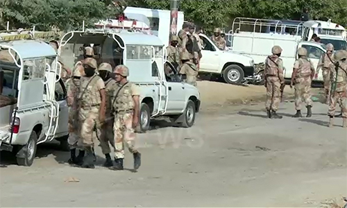 Four officials martyred as bikers open fire on Rangers' vehicle in Karachi