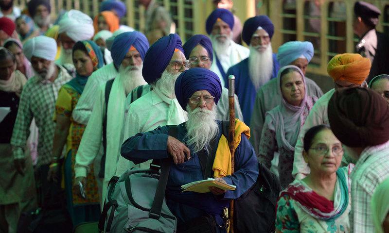 Hundreds of Sikh Yatrees arrive to attend birth anniversary of Baba Guru Nanak Dev Ji