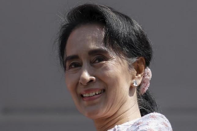 Myanmar's Suu Kyi meets parliament boss ahead of key house session