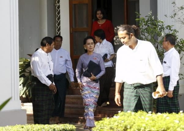 Myanmar's Suu Kyi says will be above president in new government