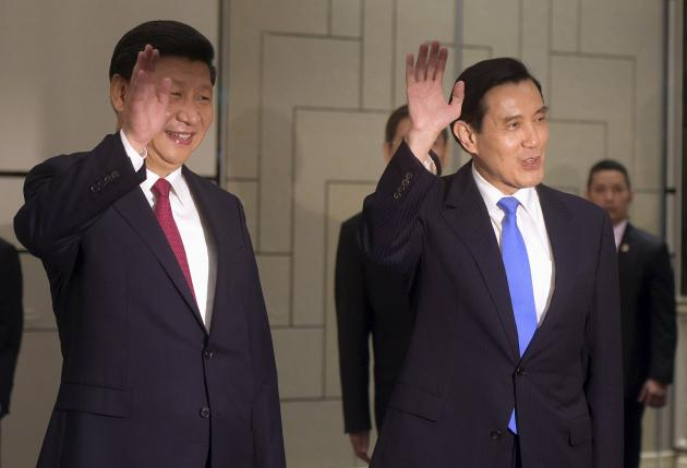 Oppose Taiwan independence, China's Xi says at historic meeting