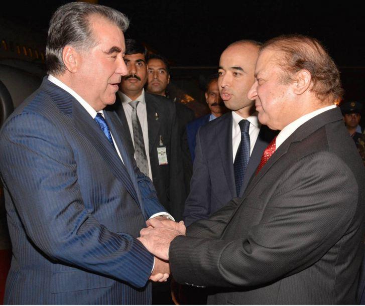 Tajikistan President Imam Ali Rahman arrives in Islamabad on two-day visit