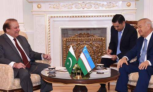 Pakistan wants to enhance cooperation with Uzbekistan in different sectors, says PM Nawaz Sharif