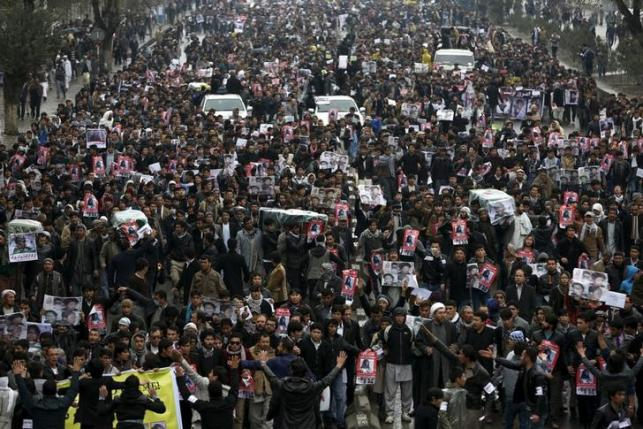 Afghan police fire warning shots as Hazara rally boils over