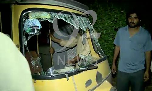 Three injured in huge blast outside Karachi CTD office
