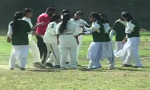 Multan defend Inter-collegiate women soccer title as scuffle mars final