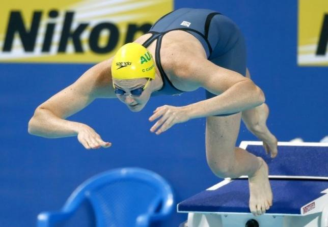 Australia's Campbell sets 100m freestyle short-course record