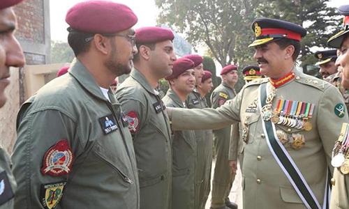 COAS General Raheel Sharif visits Army Aviation School Gujranwala