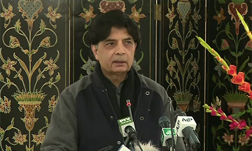 NAB formed to take revenge from PML-N, says Chaudhry Nisar